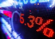 Stock market price drop display Stock Photo