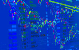 Stock market price quote,  Price pattern graph and some indicato Stock Photography