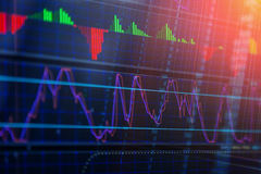 Stock Market Prices. Candle stick stock market tracking graph. Royalty Free Stock Photos