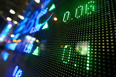 Stock market pricing abstract. On LED display Royalty Free Stock Photos