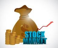 Stock market profits illustration design Royalty Free Stock Photos