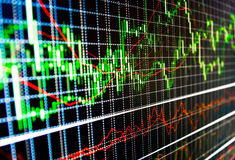 Free Stock Market Quotes Graph. Stock Images - 44296174