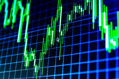 Stock market quotes graph. Royalty Free Stock Photography