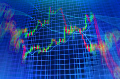 Stock market quotes graph. Stock market quotes graph chart Stock Images