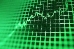 Stock market quotes graph. Royalty Free Stock Photo