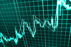 Stock market quotes graph. royalty free illustration