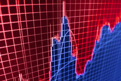 Stock market quotes graph. Stock Photography