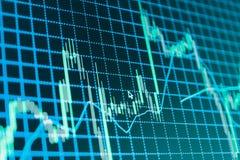 Stock market quotes graph. Stock market quotes graph chart Stock Photo