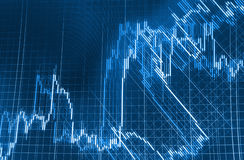 Stock market quotes graph. Stock market quotes graph chart Royalty Free Stock Photography