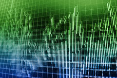 Stock market quotes graph. Stock Photo