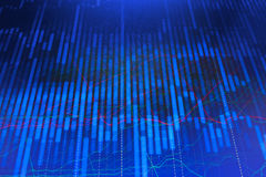 Stock market quotes graph. Forex graph chart Royalty Free Stock Photo