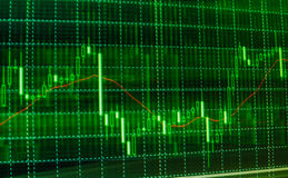Stock market quotes graph. Forex graph chart stock images