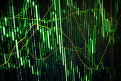 Stock market quotes graph. Forex graph chart royalty free stock image