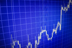 Stock market quotes graph. Forex graph chart Stock Photography