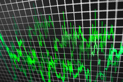 Stock market quotes graph. Royalty Free Stock Image