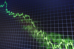 Stock market quotes graph. Stock Image