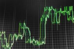Stock market quotes graph. Stock Photos