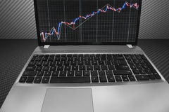 Stock market quotes graph. Stock Images
