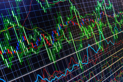 Stock market quotes graph loss crisis. Stock Photography