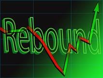 Stock Market Rebound Stock Photo