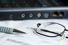 Stock market reports. Stock Images