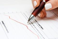 Stock market graphs financial analysis Stock Image