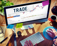 Stock Market Results Stock Trade Forex Shares Concept Royalty Free Stock Photography