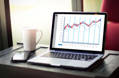 Stock Market Results Stock Trade Report Forex Shares business pe Royalty Free Stock Photos