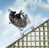 Stock Market Rise royalty free illustration