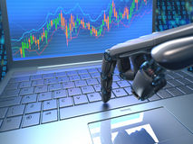 Stock Market Robot Trading Royalty Free Stock Images