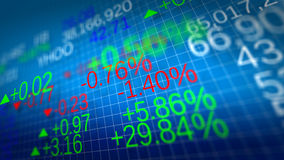 Stock market. Shallow depth of fields. Display of Stock market quotes. Shallow depth of fields Stock Image