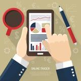 Stock Market On Smartphone vector illustration
