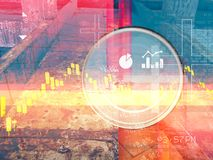 Stock Market Speculation Abstract Illustration. As JPG File Royalty Free Stock Photo