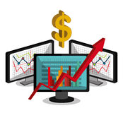 Stock market with statistics Royalty Free Stock Photo