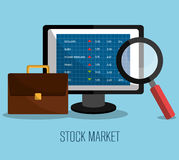 Stock market with statistics Stock Images