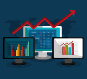 Stock market with statistics Royalty Free Stock Photography