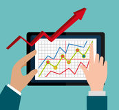 Stock market with statistics Royalty Free Stock Photos
