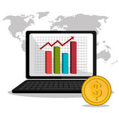 Stock market with statistics Stock Photos