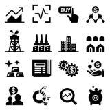Stock market & Stock exchange icons Stock Photo