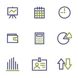 Stock and market symbol line icon on white. Finance, stock and market symbol line icon on white background vector illustration Royalty Free Stock Image