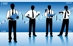 Stock market team Royalty Free Stock Image