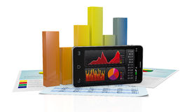 Stock market and technology, concept Royalty Free Stock Photography