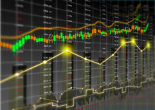 Stock market theme background Royalty Free Stock Photography