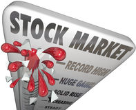 Stock Market Thermometer Rising Values Making Money Royalty Free Stock Image