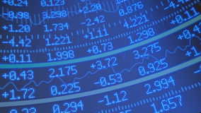 Stock market ticker background Stock Images