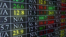 Stock Market Ticker stock footage