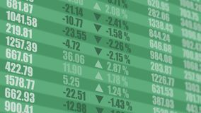 Stock market ticker. Financial background. 4K stock footage