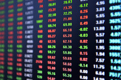 Stock market ticker Royalty Free Stock Photography