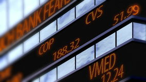 Stock market ticker, Time Square Stock Images