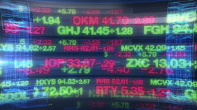 Stock Market Tickers - Digital Data Display Background stock footage